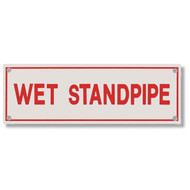 Wet Standpipe Aluminum Sprinkler Identification Sign
