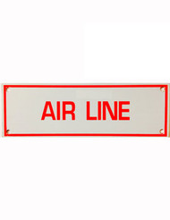 Air Line Aluminum Sprinkler Identification Sign