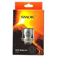 SMOK V8 X-Baby Replacement Coils (3 pieces) - X4 0.13ohm