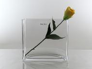 rectangular tank vase H18cm 8cmx20cm