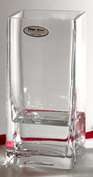 Time Tree Square Turkish Glass Vase H20cm 9cm x 9cm