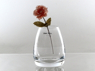 onion glass vase H13.5cm D10cm