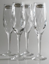 Time Tree Optical Ribbed Turkish Flute Champagne Glass H22cm V180cc (Set Of 4)