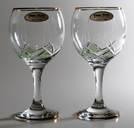 Time Tree Turkish Wine Glass Green DIAMOND H16cm V250cc (Set Of 2)