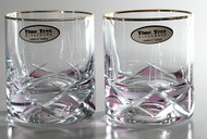 Time Tree Turkish Glass Tumbler Pink DIAMOND H8.5cm V200 (Set Of 2)