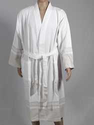 Lykia beige bathrobe