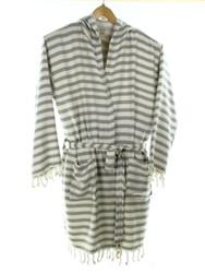 CHEVRON beachrobe bathrobe gray
