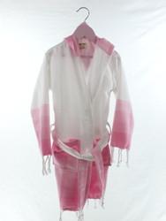TANGO - Turkish Towel Hooded Beachrobe Bathrobe Children, Pink