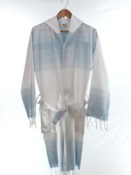 TANGO - Turkish Towel Hooded Beachrobe Bathrobe, Blue