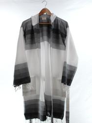 TANGO - Turkish Towel Hooded Beachrobe Bathrobe, Black
