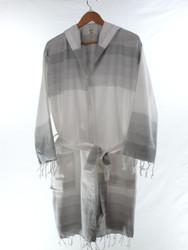 TANGO beachrobe bathrobe gray hooded