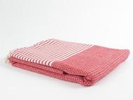 BASKET WEAVE Turkish Towel Red