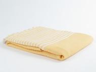 BASKET WEAVE Turkish Towel Yellow