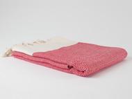 Diamond Turkish Towel Red