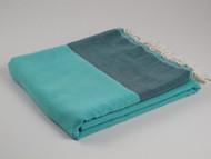 YELKEN Turkish Towel, Peshtemal, Petrolium-Turquoise
