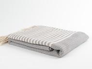 BASKET WEAVE Turkish Towel Gray