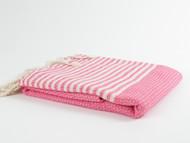 BASKET WEAVE Turkish Towel, Peshtemal, Pink