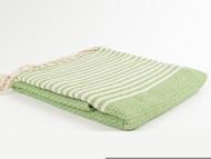 BASKET WEAVE Turkish Towel Green