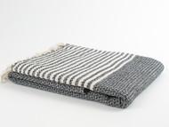 BASKET WEAVE Turkish Towel Black