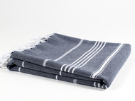 Classic Turkish Towel Peshtemal Navy
