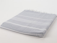 Classic Turkish Towel Peshtemal Gray