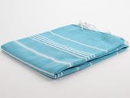 Classic Turkish Towel Peshtemal Turquoise