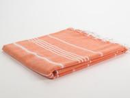 Classic Turkish Towel Peshtemal Orange