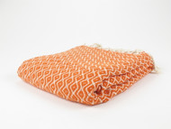 Teardrop Turkish Towel Peshtemal Orange