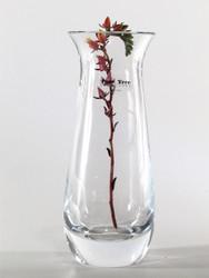 flared glass vase H20cm