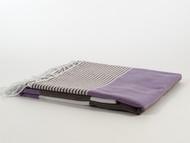 Fiesta Turkish Towel Peshtemal Brown-Purple