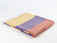 Carnival Turkish Towel Peshtemal Yellow-Purple-Orange