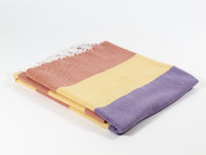 Carnival Turkish Towel Peshtemal Orange-Yellow-Purple