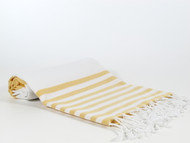 Lily Turkish Towel Peshtemal, Yellow