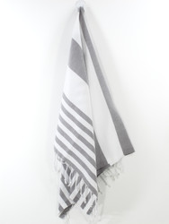 Lily Turkish Hand Towel, Tea Towel, Headwrap, Gray