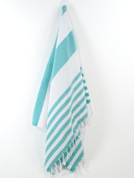 Lily Turkish Hand Towel, Tea Towel, Headwrap, Turquoise