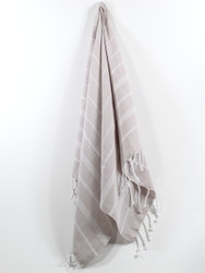 Classic Turkish Hand Towel, Tea Towel, Headwrap, Beige