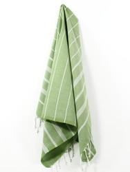 Classic Turkish Hand Towel, Tea Towel, Headwrap, Green