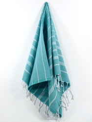 Classic Turkish Hand Towel, Tea Towel, Headwrap, Turquoise