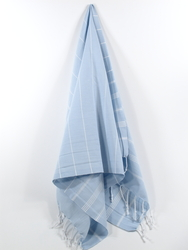 Classic Turkish Hand Towel, Tea Towel, Headwrap, Blue