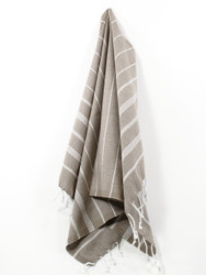 Classic Turkish Hand Towel, Tea Towel, Headwrap, Brown