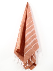 Classic Turkish Hand Towel, Tea Towel, Headwrap, Orange