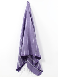 Classic Turkish Hand Towel, Tea Towel, Headwrap, Purple