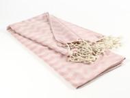 Waves Turkish Towel, Peshtemal, Pink