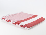 Coral Turkish Towel, Peshtemal, Red