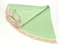 Diamond Round Turkish Towel, Peshtemal, Green