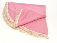 Diamond Round Turkish Towel, Peshtemal, Pink