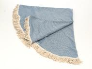 Diamond Round Turkish Towel, Peshtemal, Royal Blue