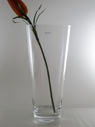 conical glass vase H50cm D23cm