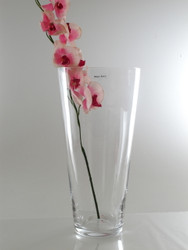 conical glass vase H40cm D19cm