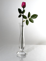 Footed bud vase